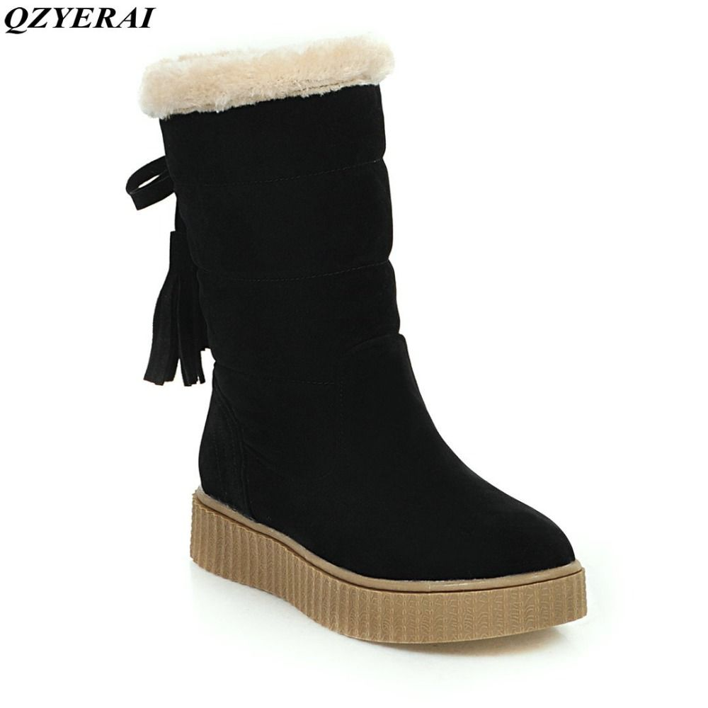 clearance store online Fashion female sexy half boots winter warm cotton padded boots women thick heels suede leather snow boots Big size 34-43 visa payment online great deals cheap price pick a best free shipping discounts xokQkPmciP
