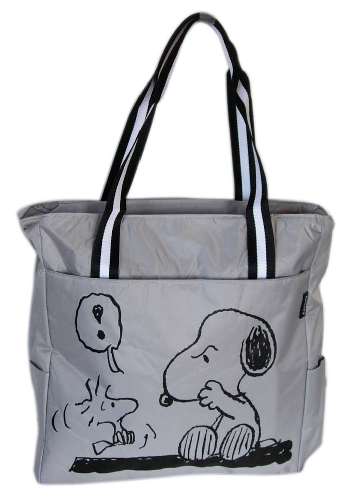Brand New Peanuts Snoopy Purse Woodstock Tote Bag 13 X 14 1 In Collectibles Animation Art Characters Ebay