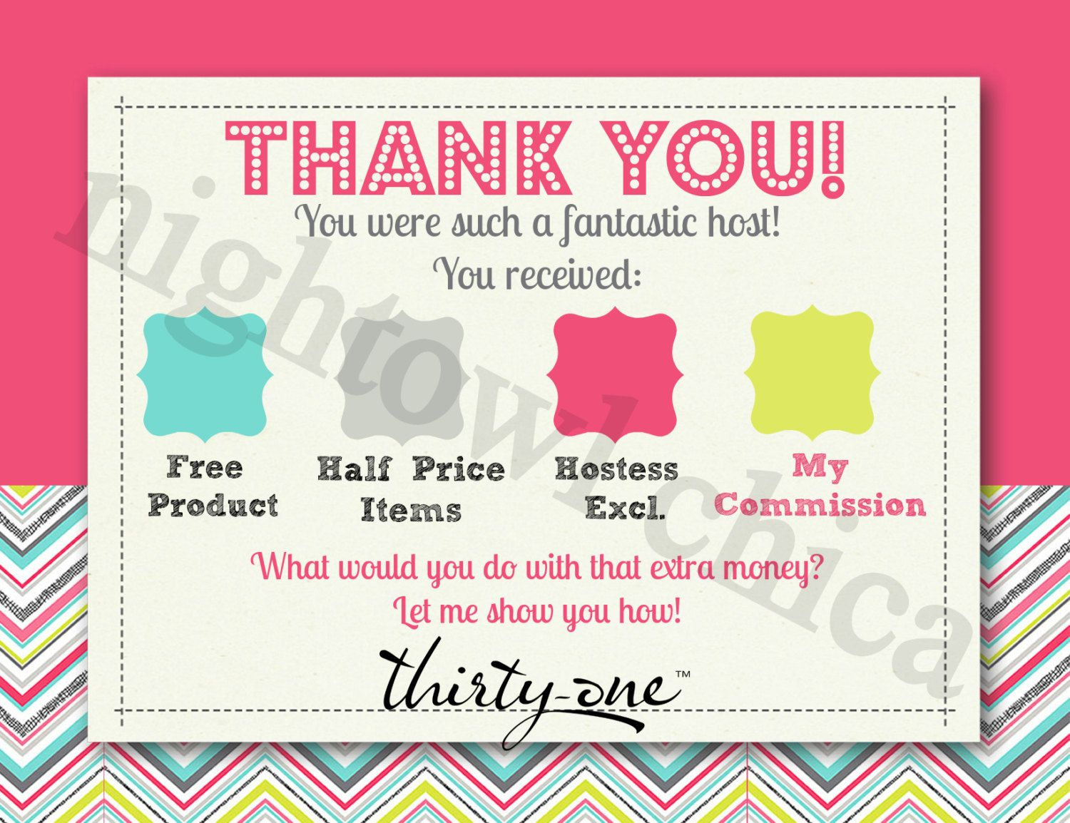 Thank you for having a party POSTCARD STANDARD SIZE. I could make something like this...