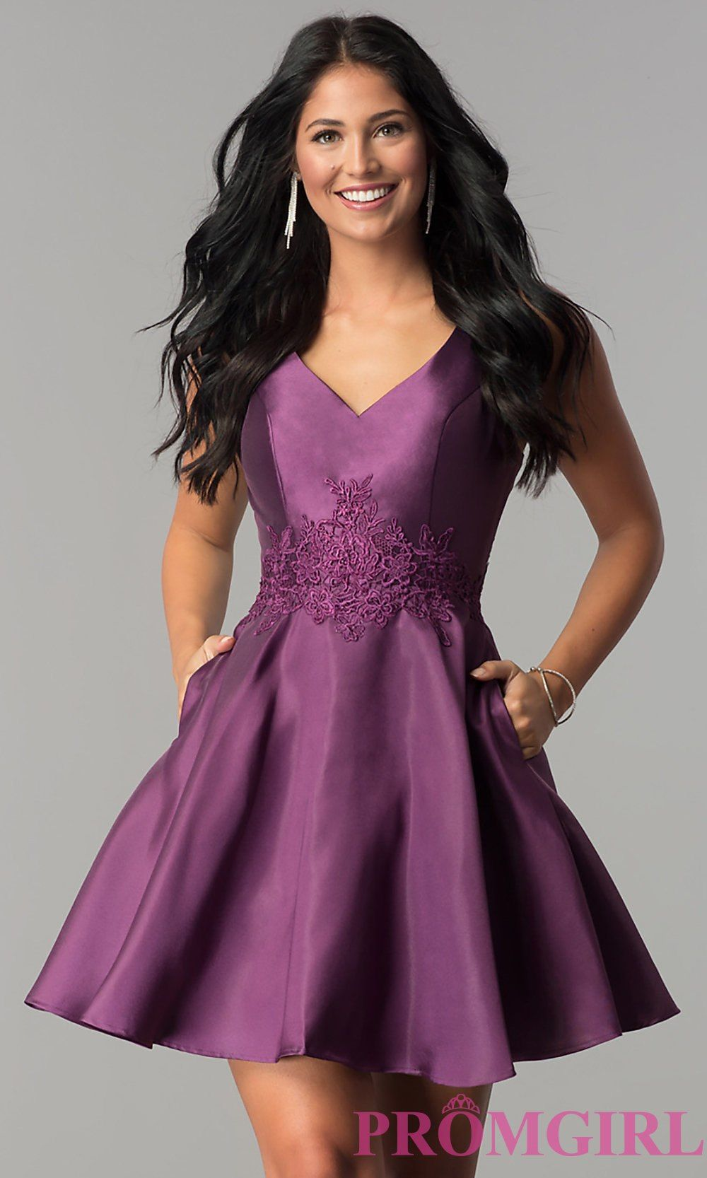 Alyce paris short vneck homecoming dress promgirl things to