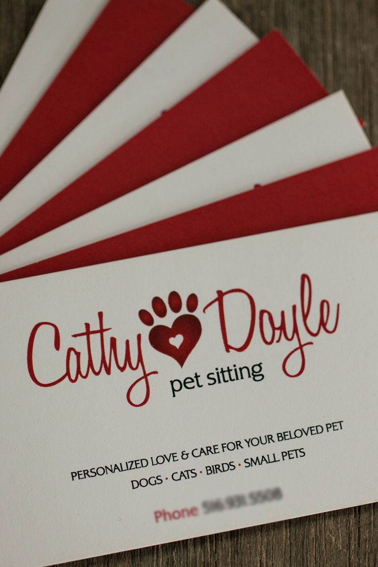 Had so much fun designing the logo and cute business cards for Cathy ...