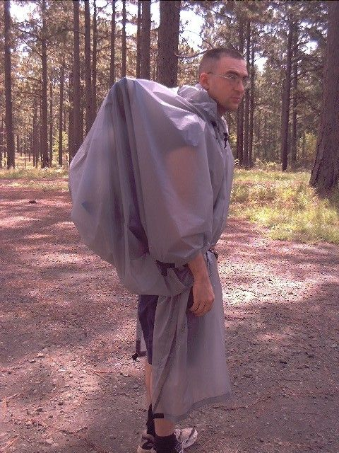 Using a poncho as rain protection and a pack cover, shelter, hammock tarp and rain gear...great how to