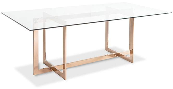 Carmelina Dining Table Rose Gold Dining Table Gold Dining Table