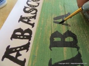 Painting a horse stall sign