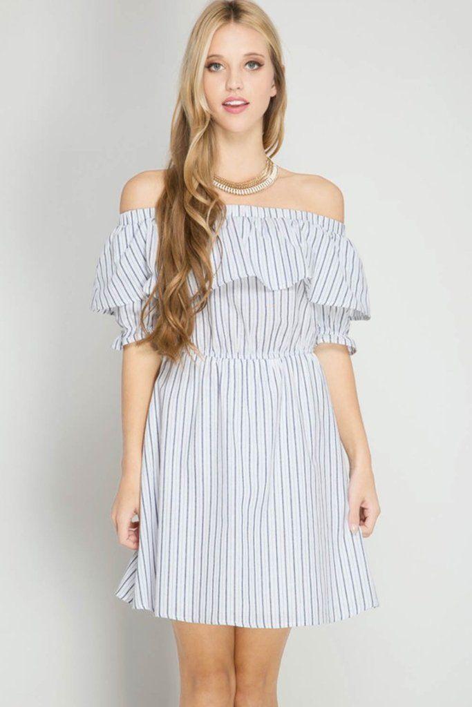 4c11207de6315 Half Puff Sleeve Ruffle Dress. Half puff sleeve off shoulder ...