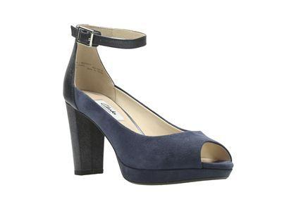 Womens Kendra Ella Ankle Strap Pumps Clarks CIST6UoeoK