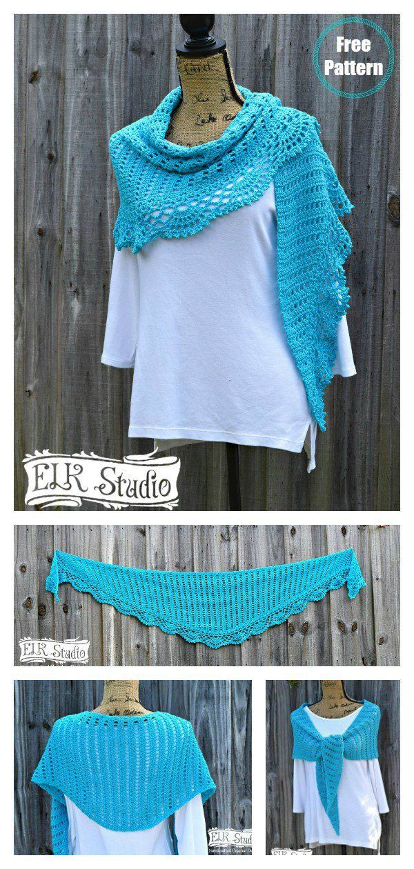 Chic and Strong Crescent Shawl Free Crochet Pattern