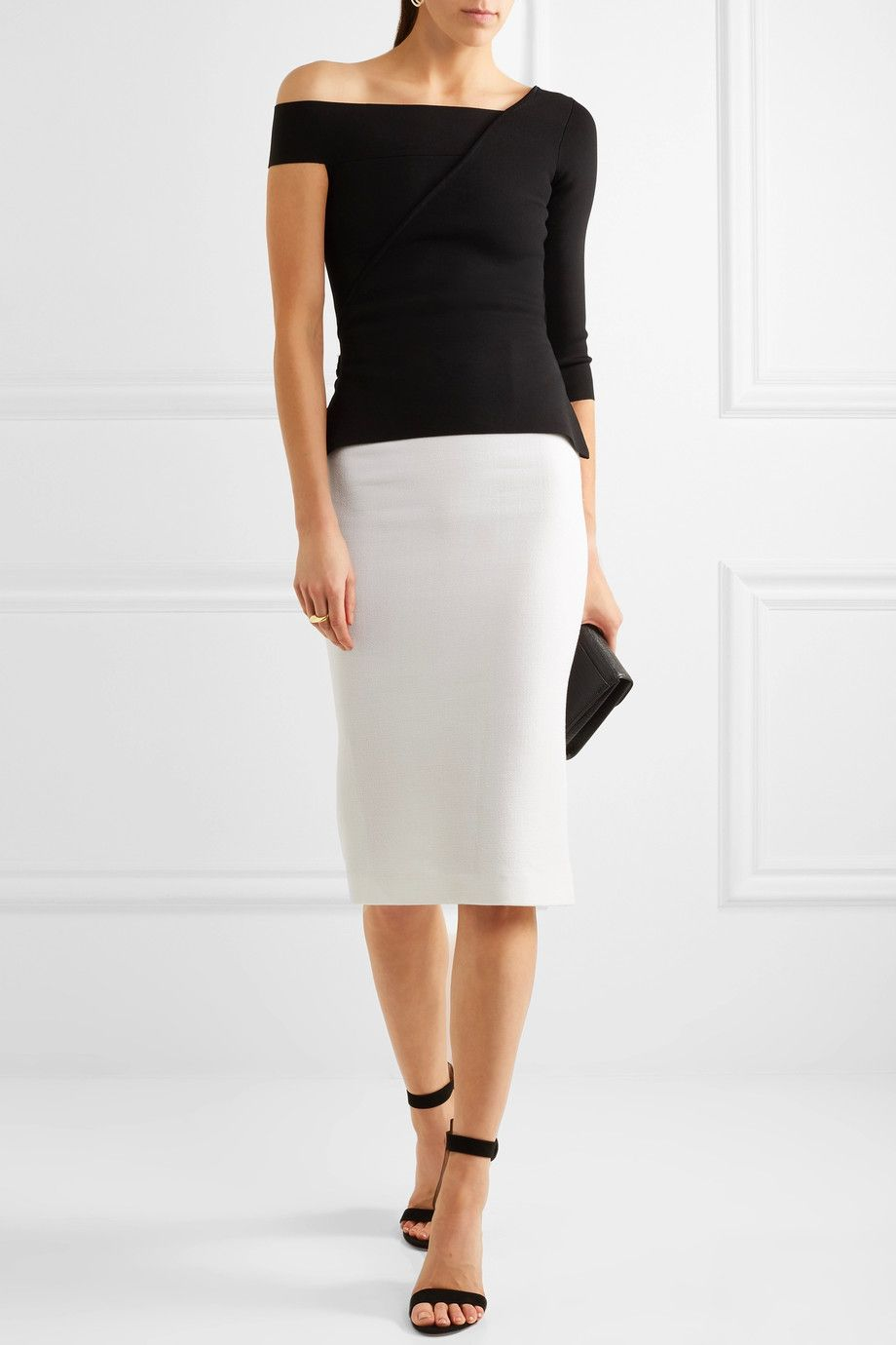 ac7da57705 Roland Mouret - Arreton wool-crepe pencil skirt | Fashion Lust ...
