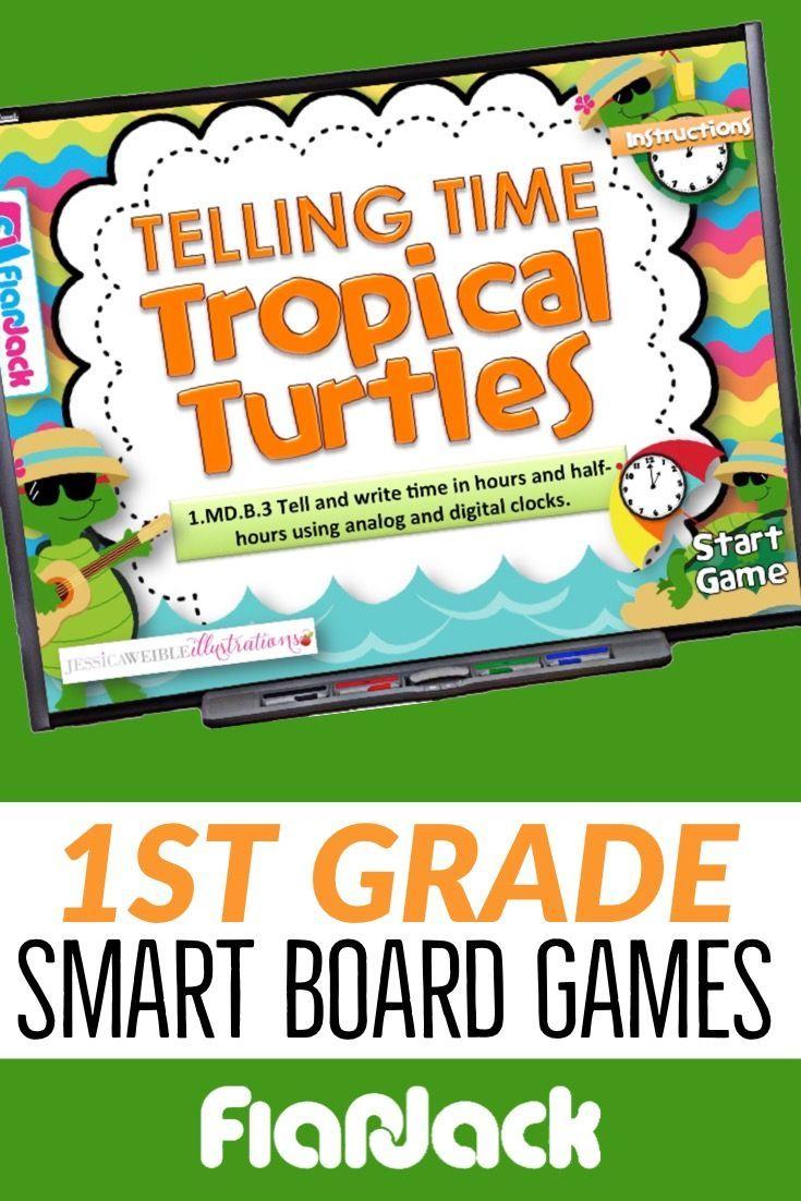 First 1st Grade Math Smart Board Game Bundle 1st grade