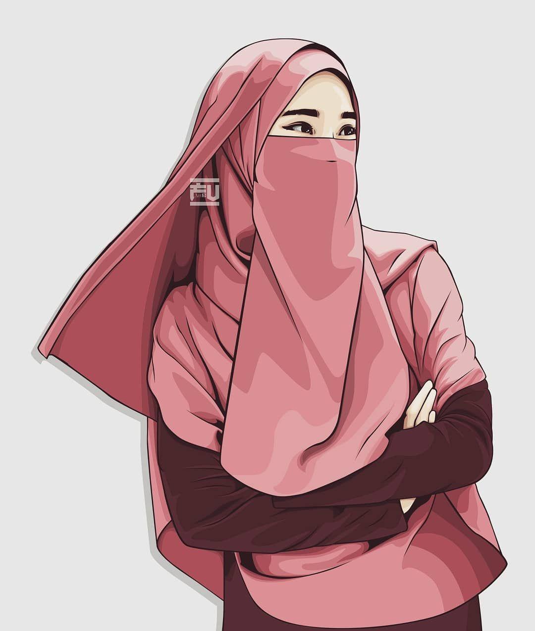 Vector With Coreldraw Hijab Niqab Ahmadfu22