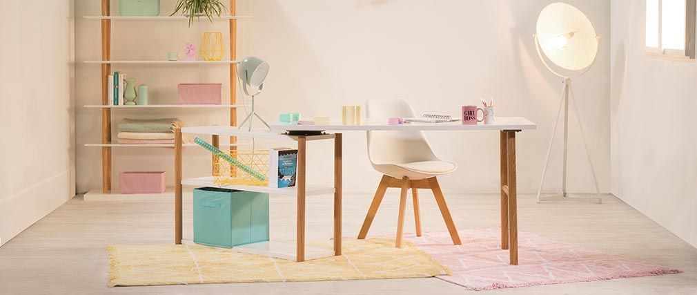 Bureau Pivotant Design Scandinave Gilda Meubles Pas Cher