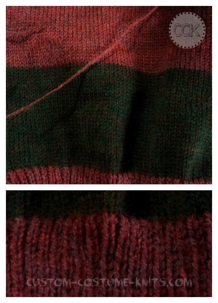 Freddy Krueger Sweaters Knitting Up A Childs Size 8 Sample