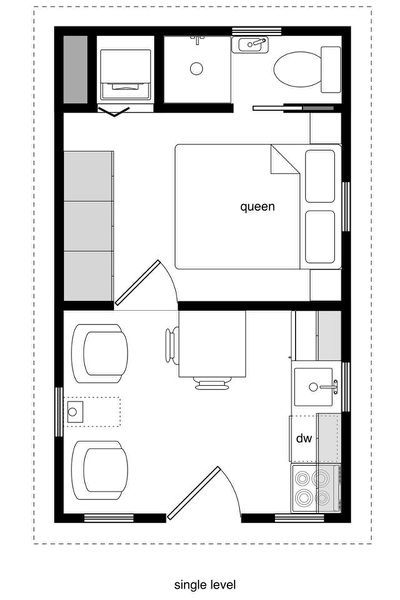 Sweatsville 12 X 24 Lofted Barn Tiny House Plans Small Cottages Tiny House Floor Plans Tiny Guest House