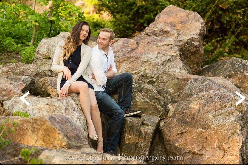 Engagement Photo at the Botanical Gardens in Chicago