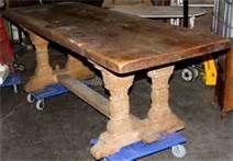 Antique Double Trestle Table