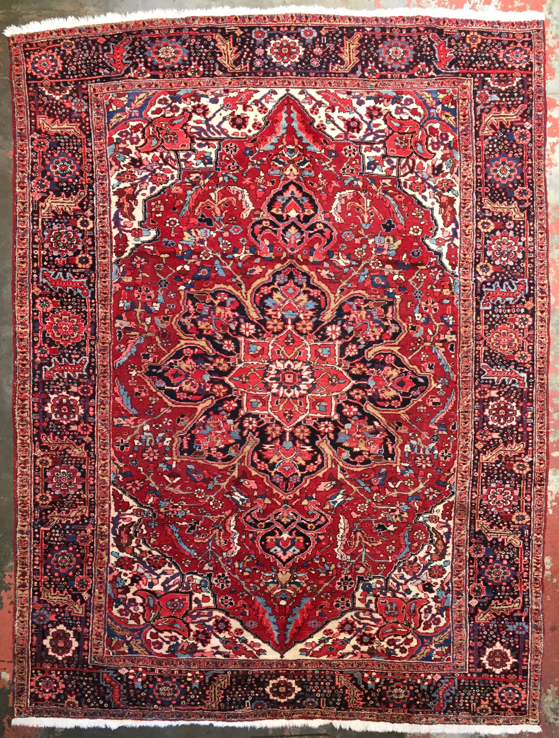 Vintage Heriz Rug 8 0 X 10 8 Colorful Rugs Red Rugs Plush Area Rugs