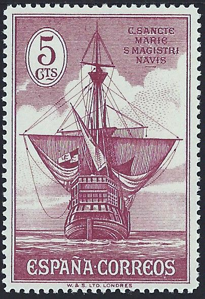 Spain 1930 Stern Of Santa Mara This Stamp Is In A Set 16 Scott 418 32 E8 Tribute To Christopher Columbus The Spanish Postal Authorities