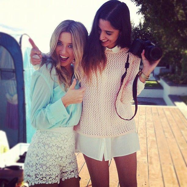 lace shorts n mint blouse