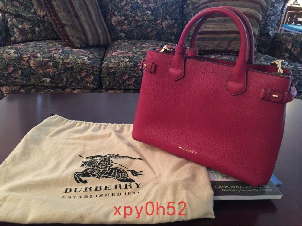ac98629f2923 Authentic New Burberry Medium Banner In Leather and House Check - Russet Red  #fashion #clothing #shoes #accessories #womensbagshandbags (ebay link)