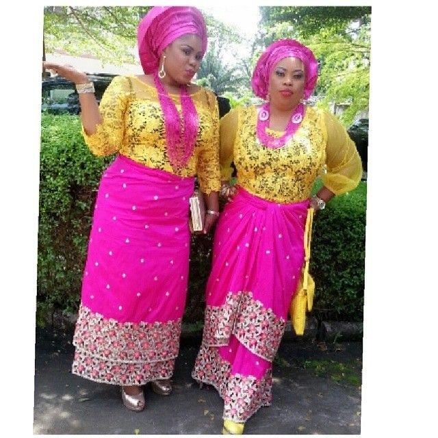 Nigerian wedding ore-iyawo aso-ebi styles special | Asso ebi ...