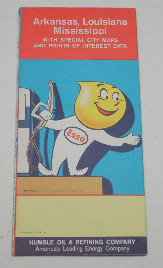 1961 Esso Humble Oil & Refining Co Road Maps by Beadgarden55 ... Company Road Maps on company mission, company leadership, company registration, company goals, strategy map, company gardens map, company resources, company management, company department map, company art,