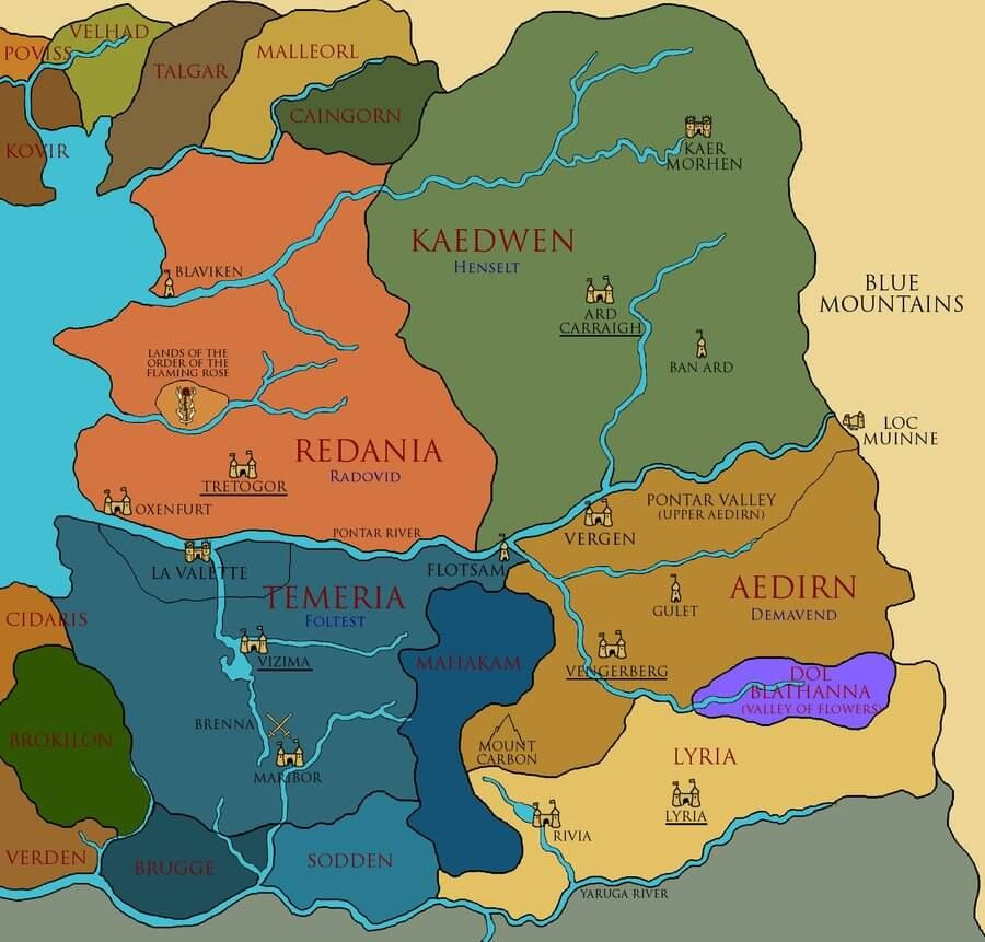 Pin by Alexander Hill on Gaming - Witcher Pinterest - new world map online puzzle