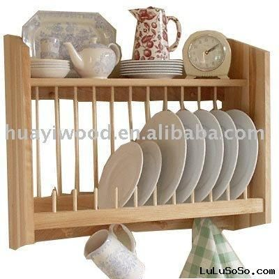 Wooden Wall Plate Cabinet Wooden Cabinets Design Ideas Wall Mounted Dish Rack Wooden Plate Rack Wooden Dish Rack