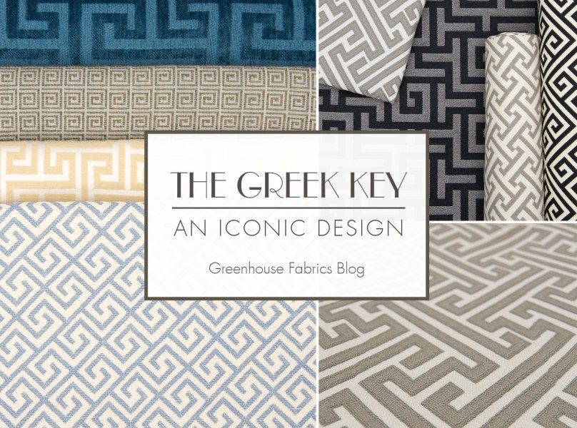 The Greek Key An Iconic Design By Greenhouse Fabrics Available At Landry Home Decorating