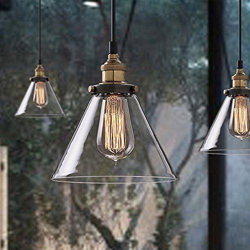 Buyee Modern Industrial Metal Glass Loft Pendant Lamp Retro Ceiling ...
