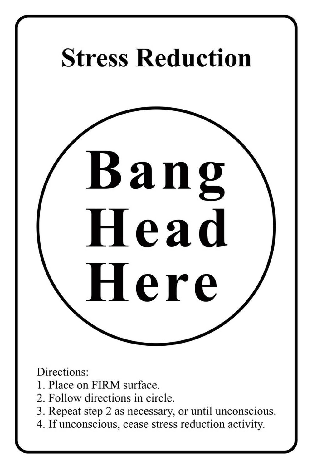 Posterboy 'Bang Head Here' Poster: Amazon.in: Home & Kitchen
