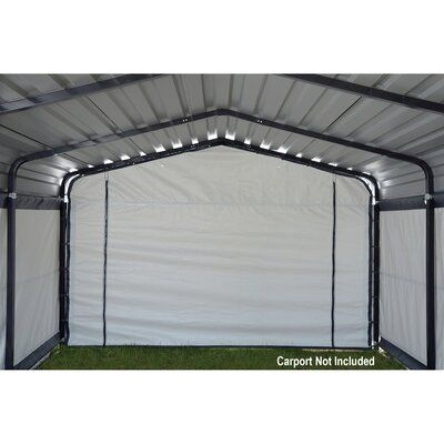 Arrow Enclosure Kit 12 Ft X 20 Ft Garage Steel Carports Shed Kits Carport