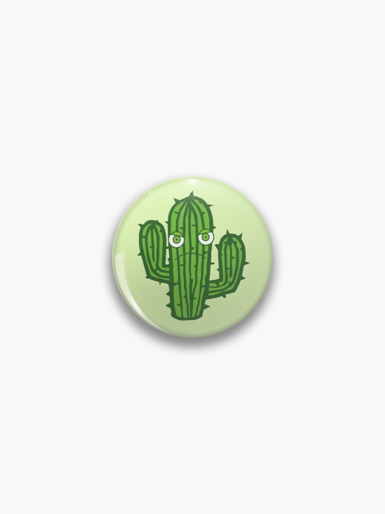 Angry Cactus Pin Button By Jazzydevil In 2020 Angry Cactus Pin Buttons Pinback