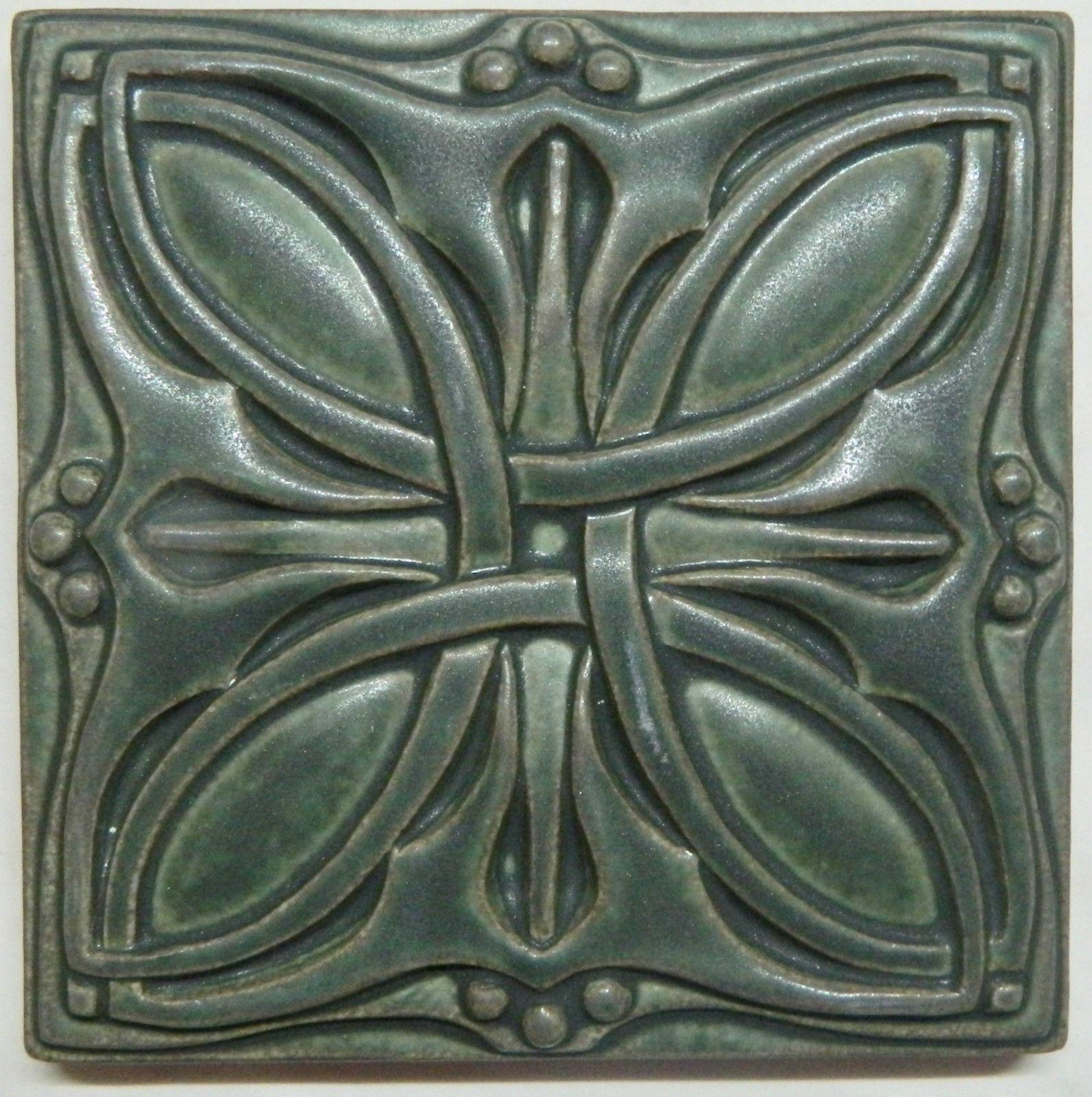 Arts and crafts tiles - Motawi Art Tile Cicero 6 X 6 Louis Sullivan Arts And Crafts Pottery Ceramics