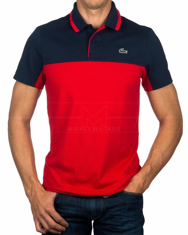 66d1418f89694 Polos Lacoste ® Azul Marino   Rojo