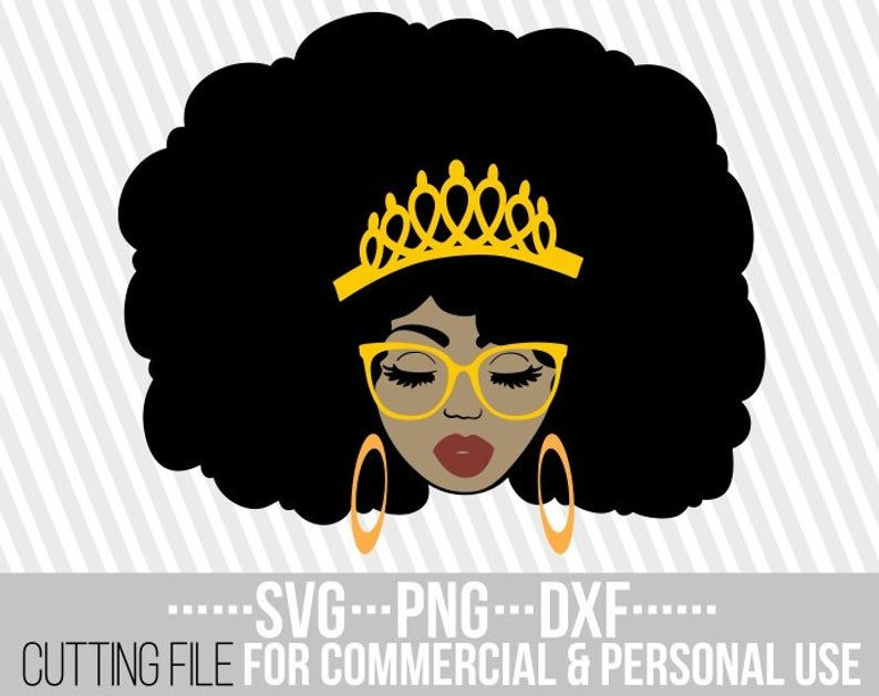 Beauty Black Queen Svg Red Lips Crown Clipart Melanin Afro Woman Black Girl Magic File For Cricut Silhouette Instant Download Black Girl Magic Art Afro Women Black Girl Magic