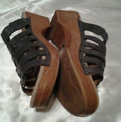 Dansko Blue Leather Strap Slide Sandal Size 38