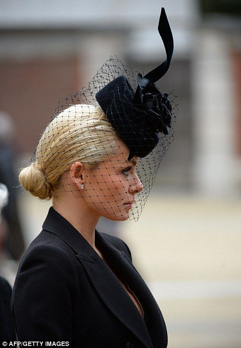 792c8b5bd7f Katherine Jenkins was one of the first to arrive at the funeral this morning