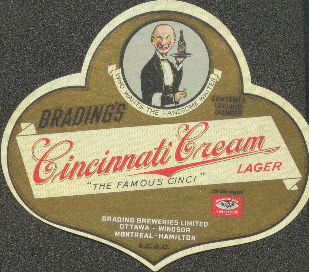 Brading's Cincinnati Cream Creator: Brading Breweries Limited Title: Brading's Cincinnati Cream Date: [c.1914-1948]