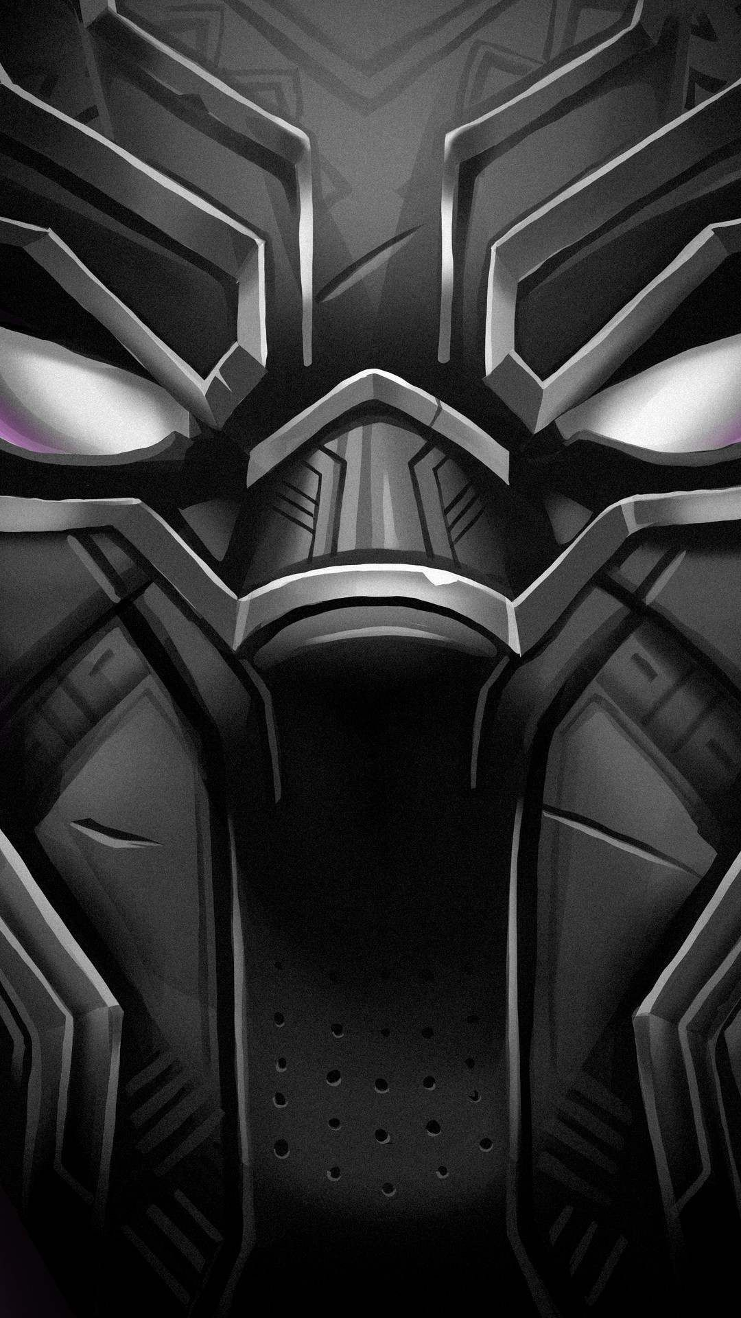 Black Panther Face iPhone Wallpaper Black panther face