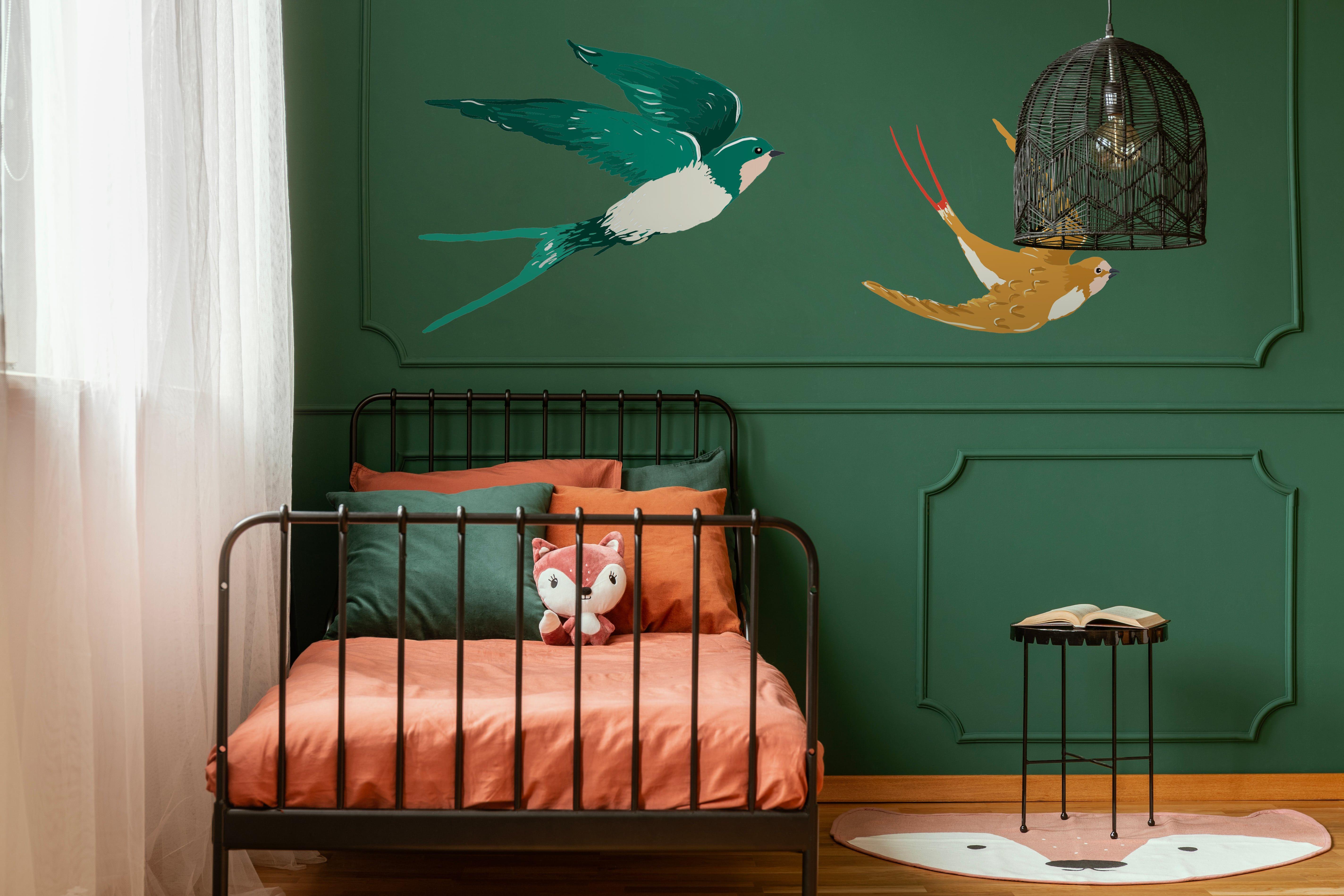 Swallow Grand Sticker En 2020 Parement Mural Decoration Murale Decoration
