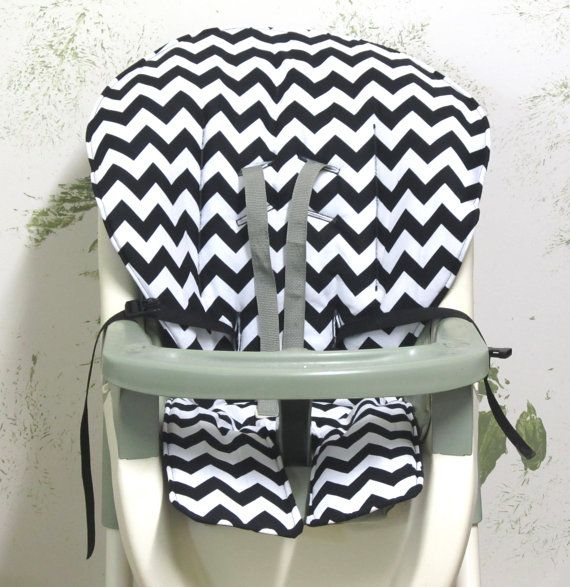 Graco High Chair Cover Pad Replacement Black And White Etsy Highchair Cover Graco High Chair High Chair