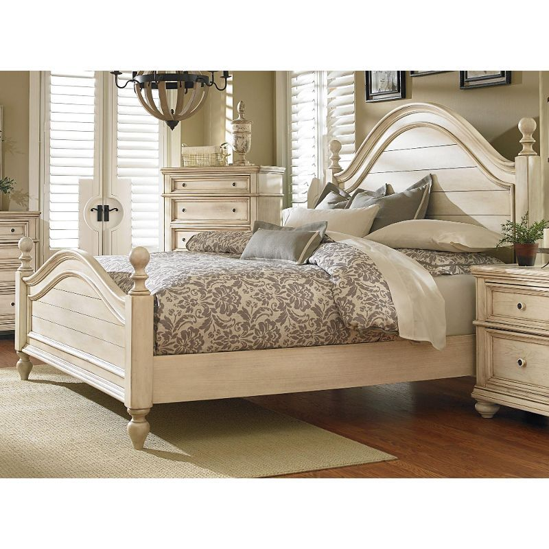 Rustic Antique White Queen Bed
