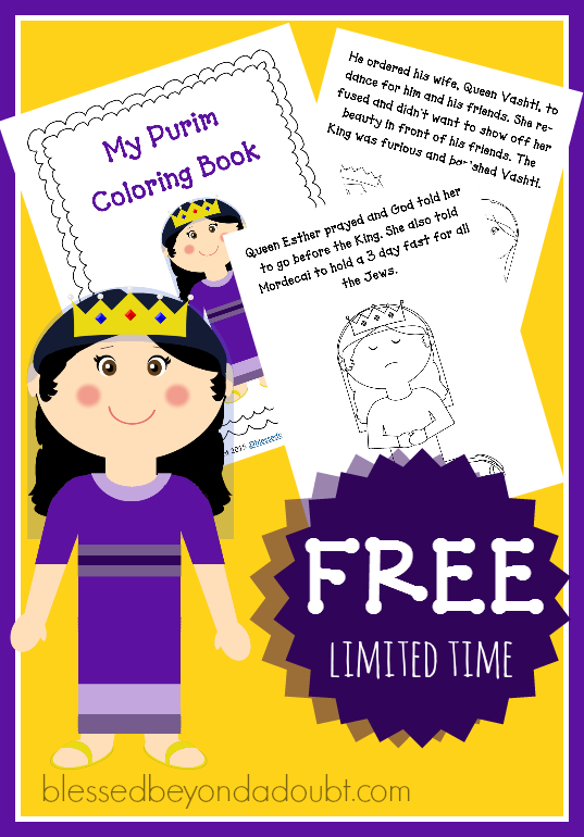 FREE Purim Bible Story Coloring Book | Bible stories ...