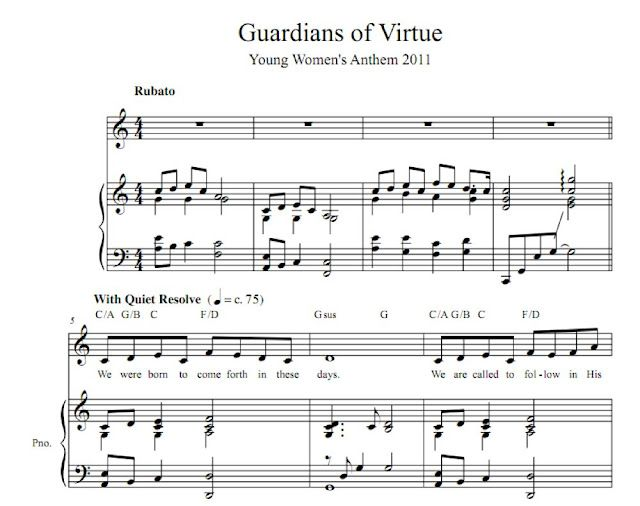 Blessing Young Women: Guardians of Virtue sheet music | YW