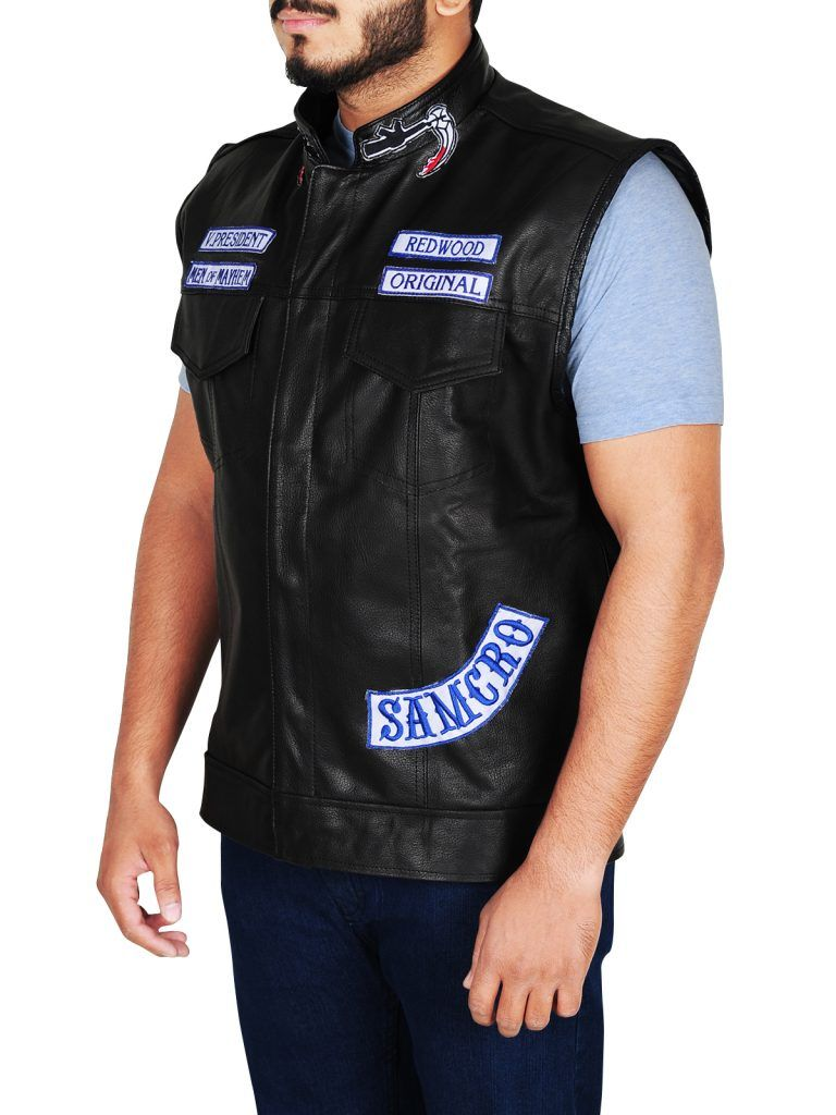 Charlie Hunnam Sons Of Anarchy Jax Teller Vest Jackets Maker Sons Of Anarchy Vest Leather Waistcoat Mens Leather Waistcoat