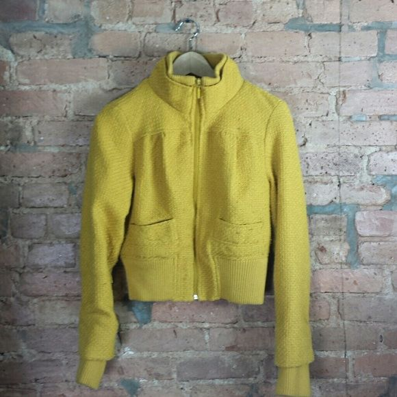 Gold Spring Sweeted Jacket Beautiful golden tweeded jacket. Fits to the body. Wool blend. Very comfortable! Very cute! :-) Jackets & Coats
