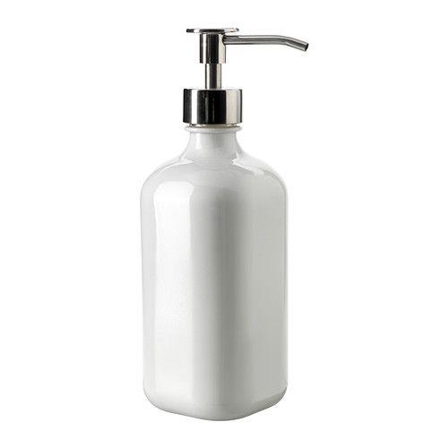 Seifenspender holz ikea  BESTÅENDE Spülmittelspender, weißes Glas