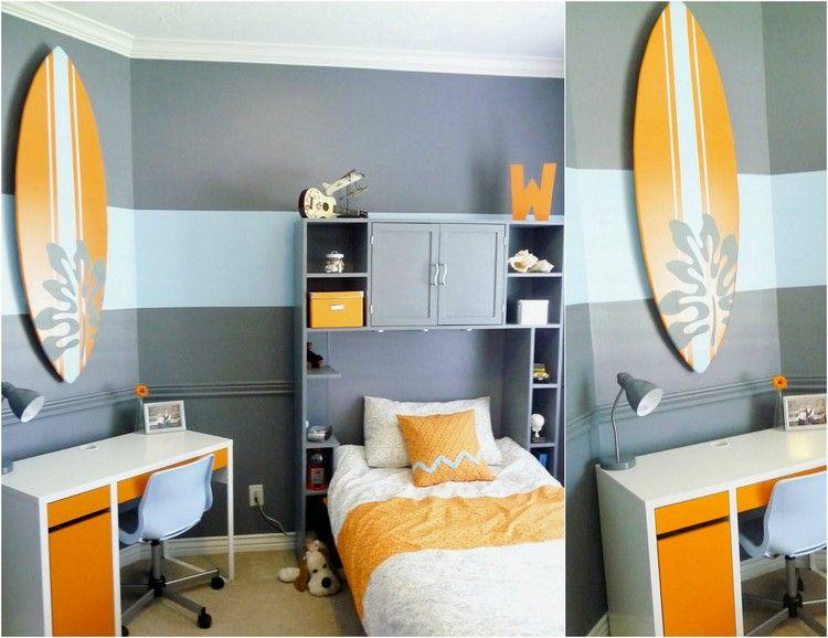 Déco chambre enfant avec planche de surf- 50 inspirations! Surf