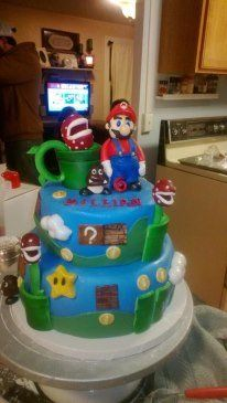 Birthday Cake For A 6 Year Old Boy Who Love Super Mario