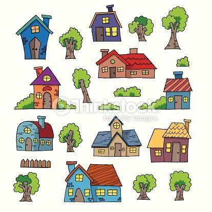 Resultado De Imagen Para Dibujos Casas Colores Casas Dibujos